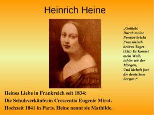 Heinrich Heine Heines Liebe in Frankreich seit 1834: Die Schuhverkäuferin Cre