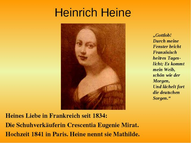 Heinrich Heine Heines Liebe in Frankreich seit 1834: Die Schuhverkäuferin Cre...
