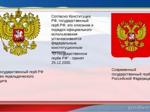 Современный государственный герб Российской Федерации Государственный герб РФ