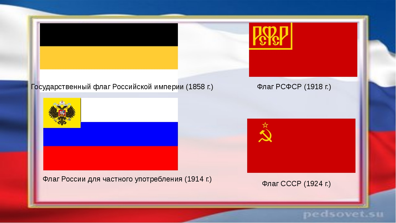 Государственный флаг Российской империи (1858 г.) Флаг России для частного уп...