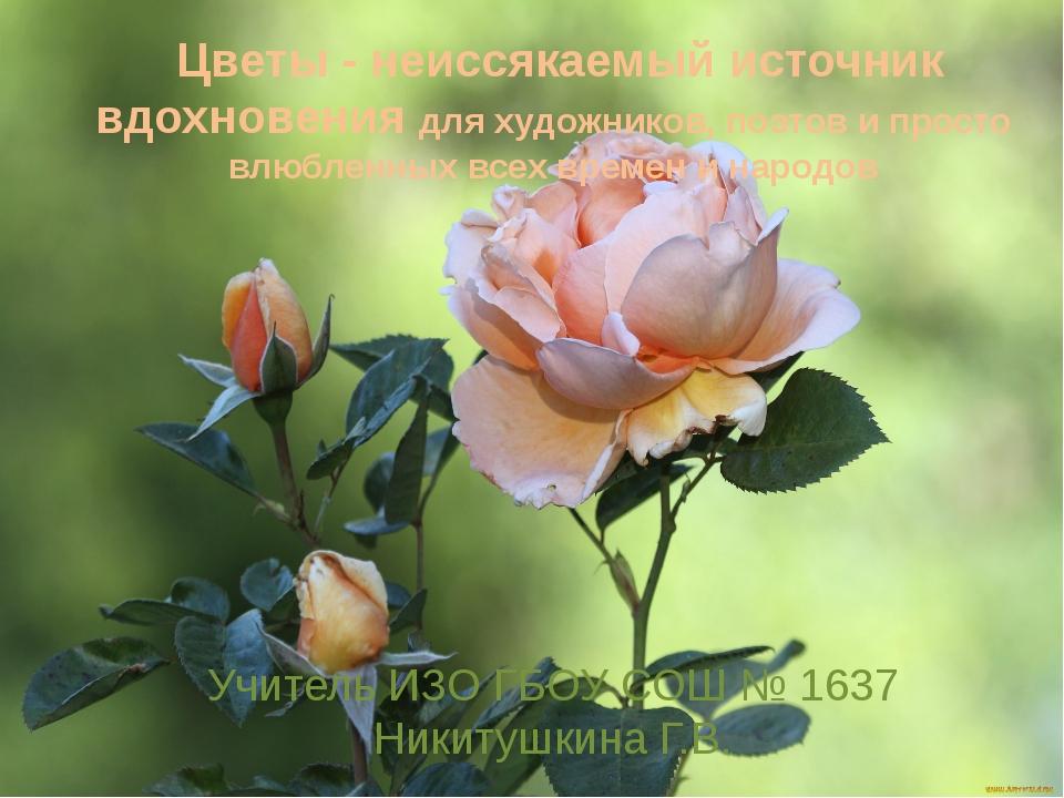 Цветы - неиссякаемый источник вдохновения для художников, поэтов и просто вл...