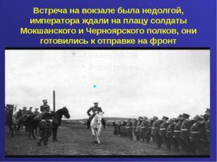 Встреча на вокзале была недолгой, императора ждали на плацу солдаты Мокшанск
