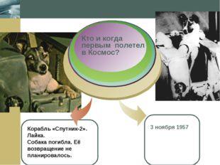 Company Logo Корабль «Спутник-2». Лайка. Собака погибла. Её возвращение не пл
