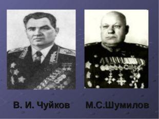 В. И. Чуйков М.С.Шумилов