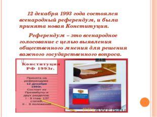 12 декабря 1993 года состоялся всенародный референдум, и была принята новая