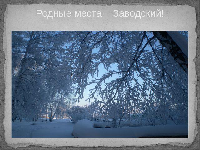 Родные места – Заводский!