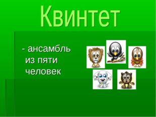 - ансамбль из пяти человек