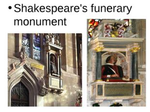 Shakespeare's funerary monument