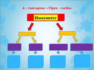 4 – тапсырма: «Тірек - сызба» Иммунитет