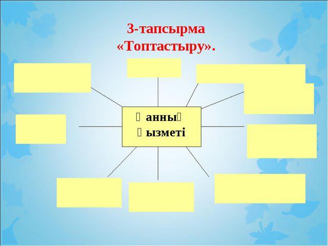 3-тапсырма «Топтастыру».