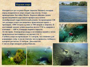 Вадское озеро ОзероВа́дскоев селеВад Нижегородской области. Находится в р
