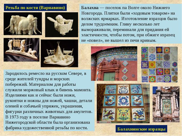 Резьба по кости (Варнавино) Зародилось ремесло на русском Севере, в среде жит...