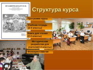 Структура курса Программа курса Учебник-тетрадь (2-4 классы) Книга для чтени