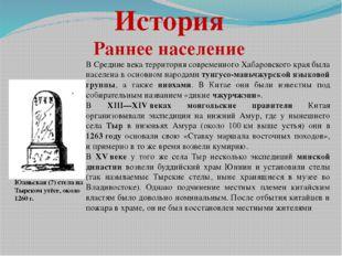 История Раннее население В Средние века территория современного Хабаровского