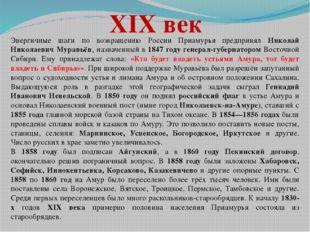 XIX век Энергичные шаги по возвращению России Приамурья предпринял Николай Ни