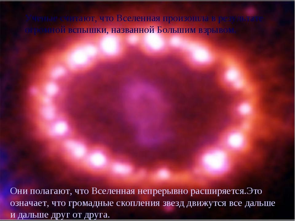 Ученые считают, что Вселенная произошла в результате огромной вспышки, назван...