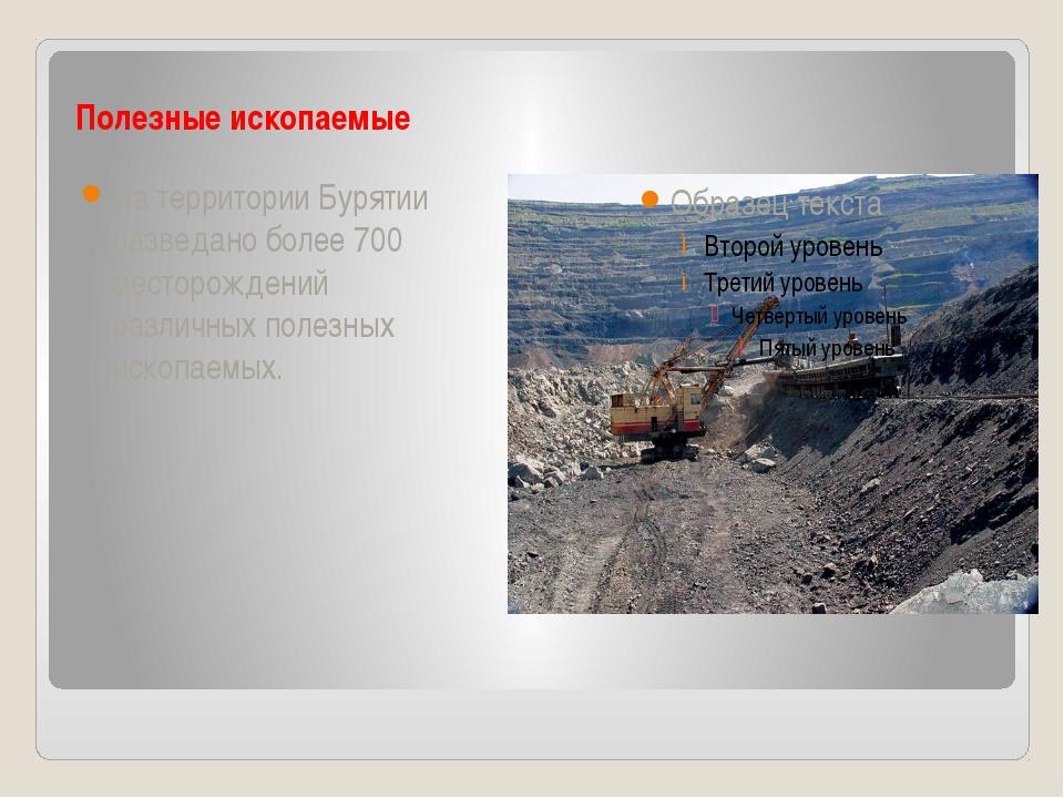 Полезные ископаемые На территории Бурятии разведано более 700 месторождений...