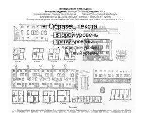 Венецианский жилые дома Местонахождение:Венеция (Италия)Создание: XV в. Блок