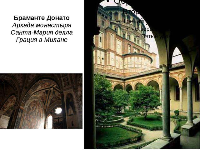 Браманте Донато Аркада монастыря Санта-Мария делла Грация вМилане