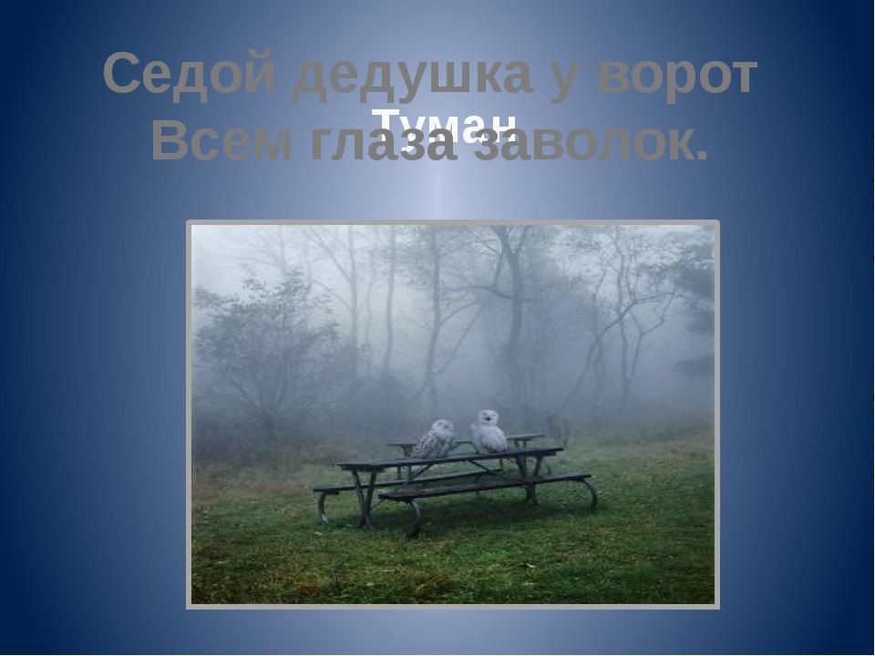 Туман Седой дедушка у ворот Всем глаза заволок.