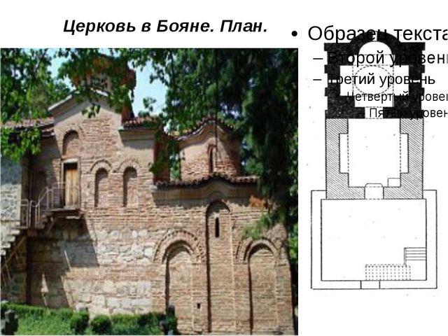 Церковь в Бояне. План.
