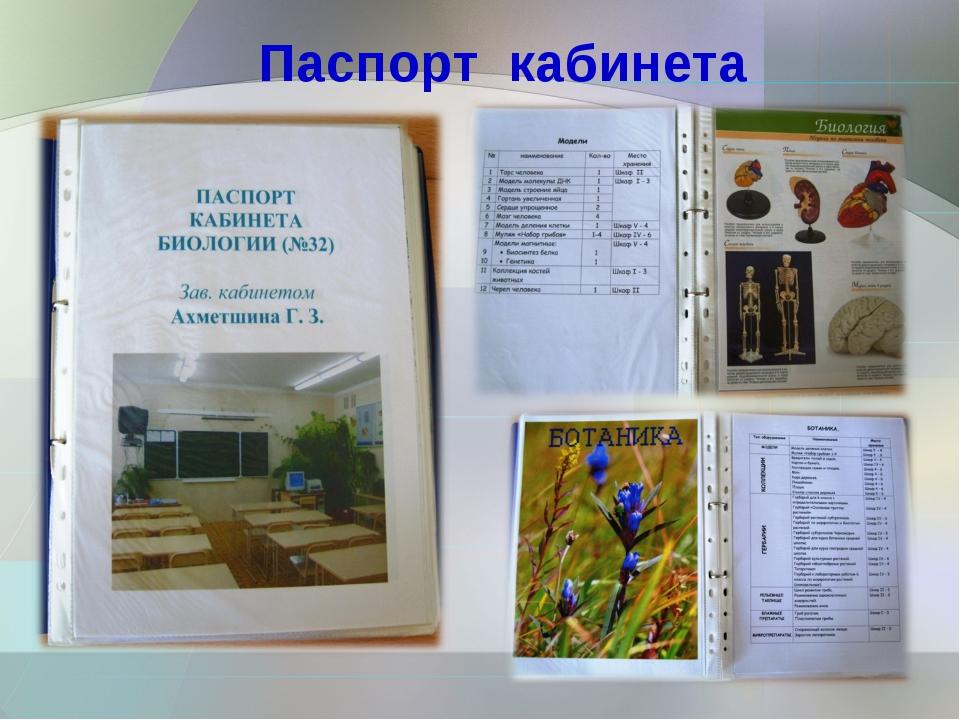 Картинка паспорт кабинета технологии