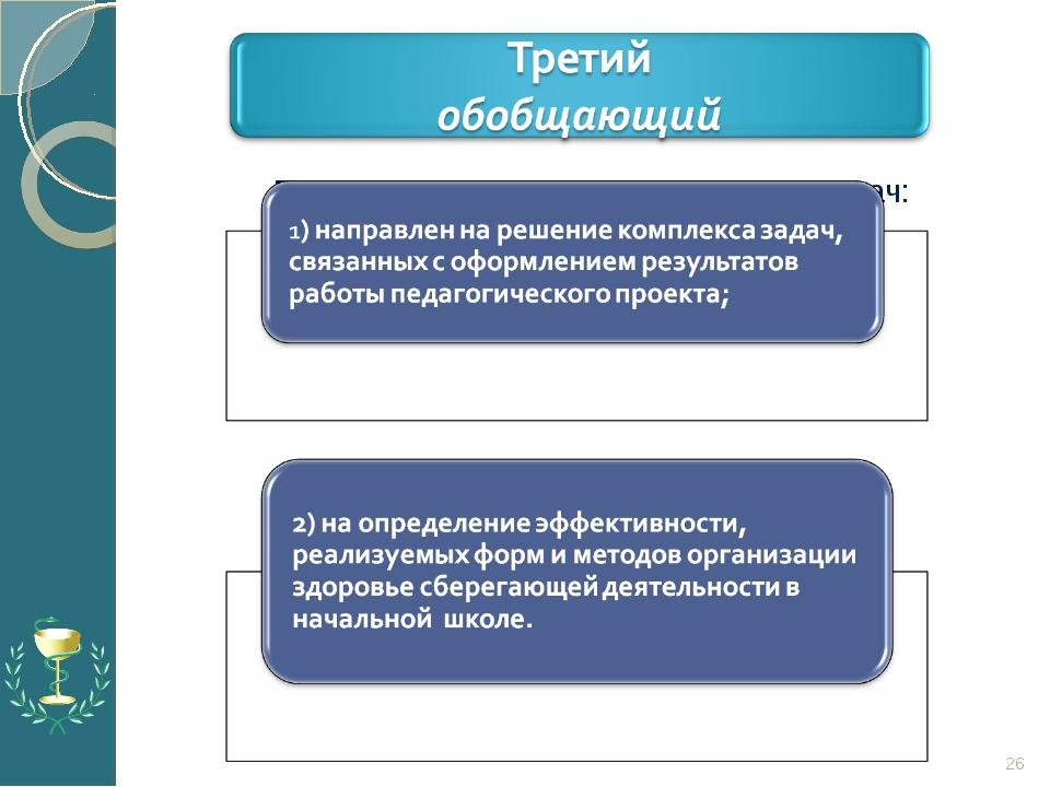 Предполагает решение следующих задач: *