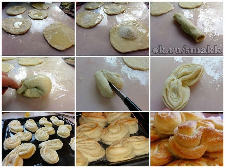 Сладкие пышные булочки рецепт с пошагово