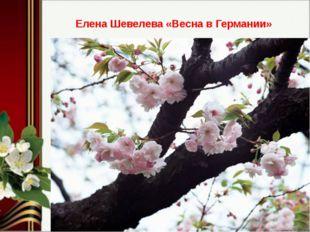 Елена Шевелева «Весна в Германии»