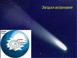 Загадки астрономии Солнце Орбиты планет Пояс Койпера Облако Оорта http://f5.s