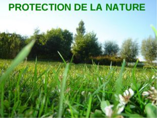 PROTECTION DE LA NATURE