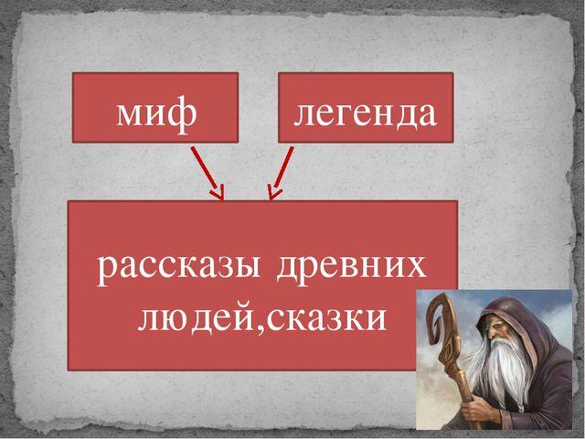 миф легенда рассказы древних людей,сказки