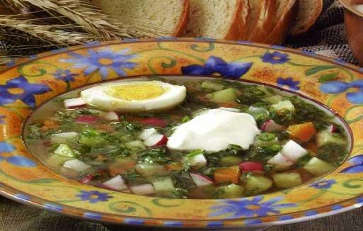 Рецепт - Овощная окрошка