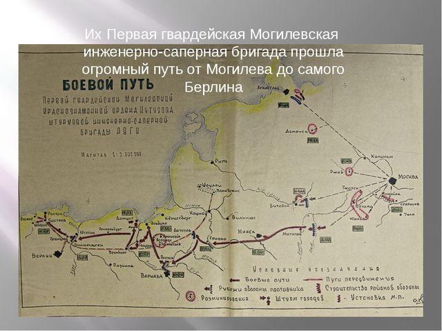 Их Первая гвардейская Могилевская инженерно-саперная бригада прошла огромный...