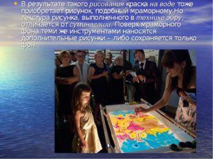 В результате такогорисованиякраскана водетоже приобретает рисунок, подобн