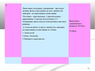 * 6. Выполним следующее упражнение - цветовую заливку фона и наложение на не