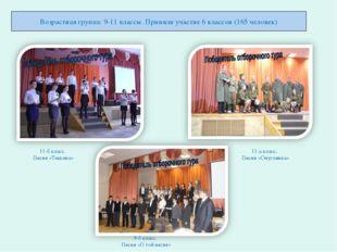 Возрастная группа: 9-11 классы. Приняли участие 6 классов (165 человек) 11-б