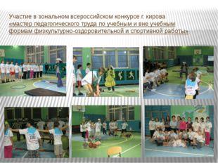 Участие в зональном всероссийском конкурсе г. кирова «мастер педагогического