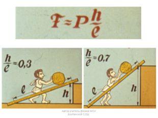 Автор учитель физики МОУ Болтинской СОШ Автор учитель физики МОУ Болтинской СОШ