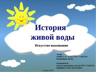 История живой воды Автор: ученик 3 «Г» класса МОУ СОШ №6 Владимиров Артём. Р