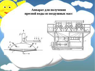 Аппарат для получения пресной воды из воздушных масс