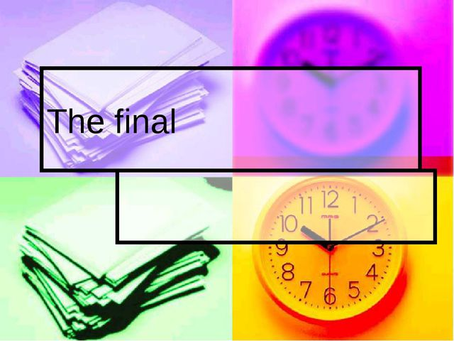 The final