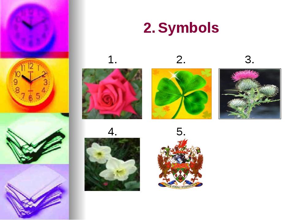 2.Symbols 1. 2. 3. 4. 5.