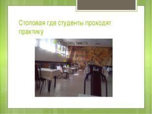 Столовая где студенты проходят практику