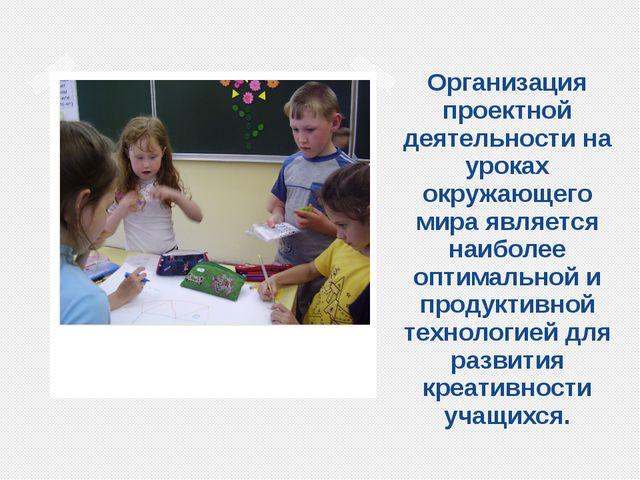 Организация проектной деятельности на уроках окружающего мира является наибол...