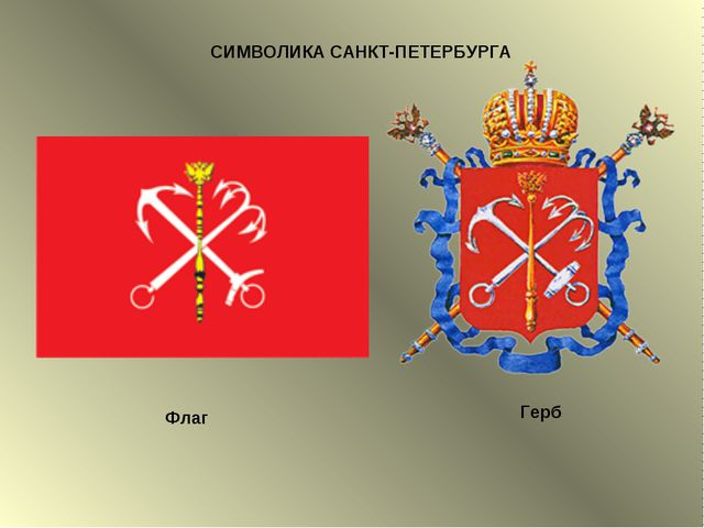 СИМВОЛИКА САНКТ-ПЕТЕРБУРГА Флаг Герб