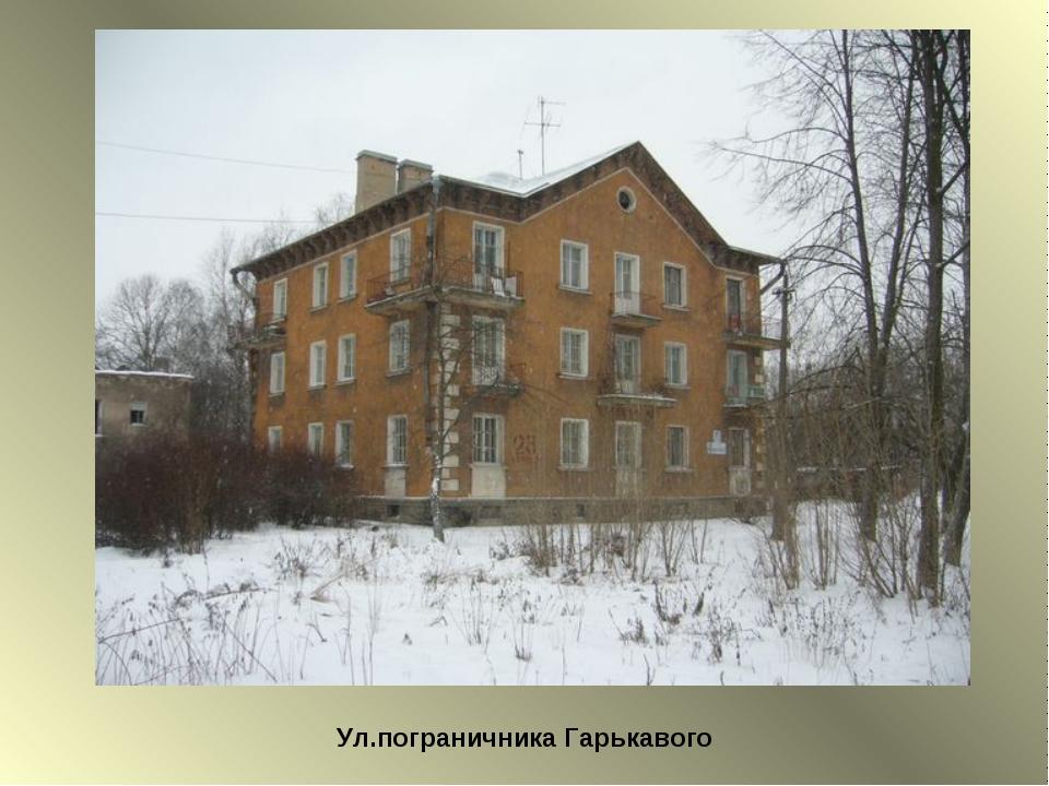 Ул.пограничника Гарькавого