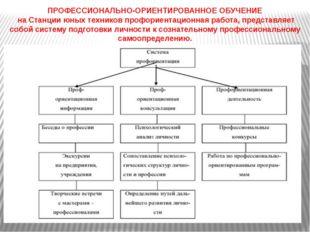 ПРОФЕССИОНАЛЬНО-ОРИЕНТИРОВАННОЕ ОБУЧЕНИЕ на Станции юных техников профориент