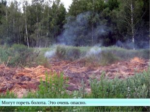 Могут гореть болота. Это очень опасно.