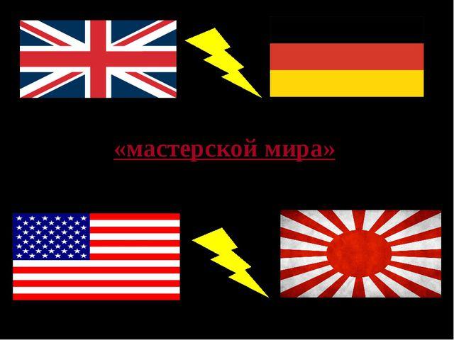 Обострение противоречий между бывшей «мастерской мира» Англией и Германией, С...
